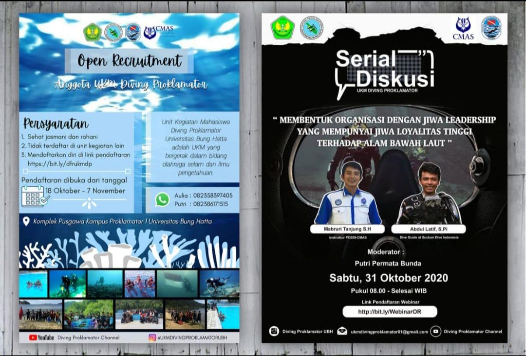 Webinar UKM Diving Proklamator Universitas Bung Hatta