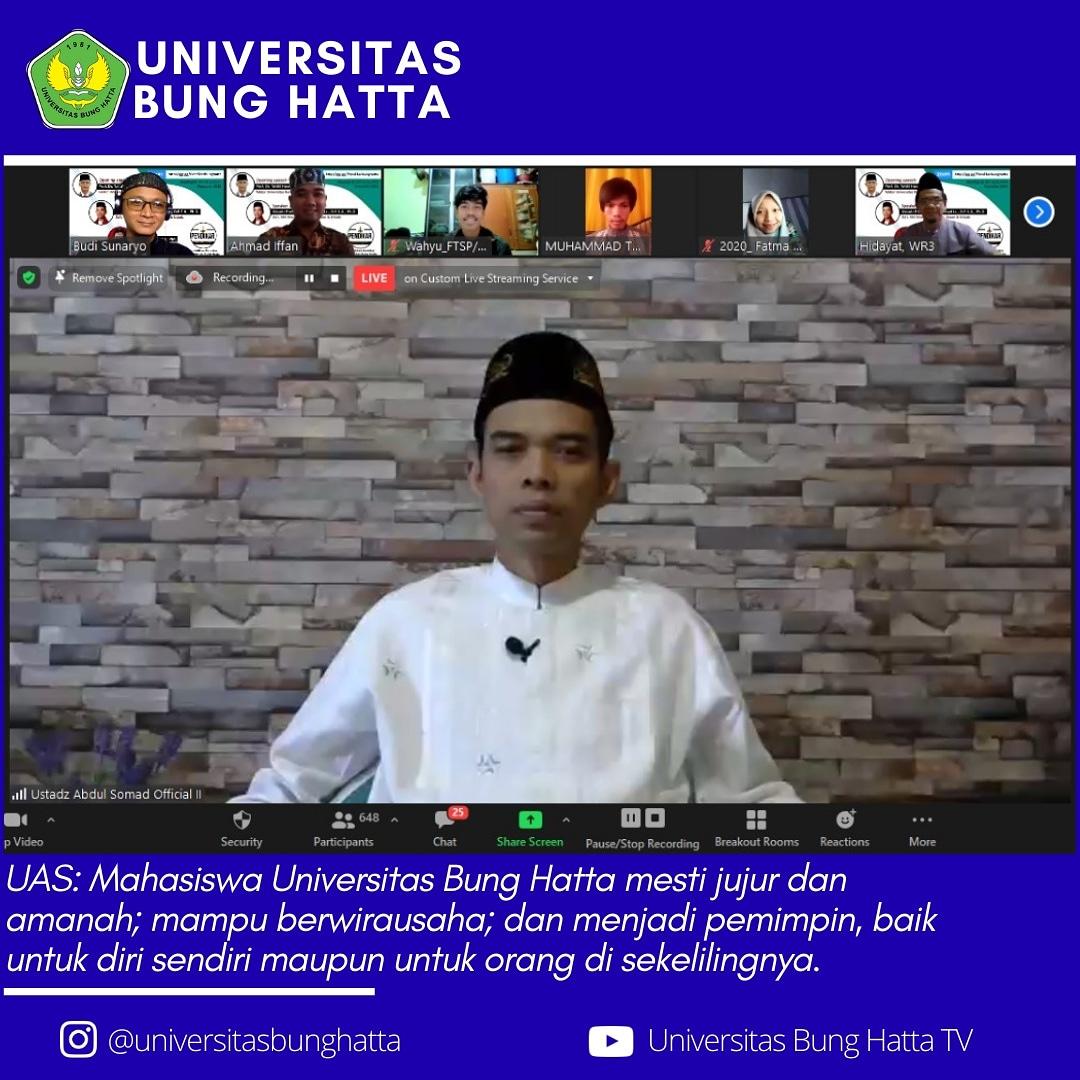 UAS Hadir dalam Pendikar Edisi-5 di Universitas Bung Hatta