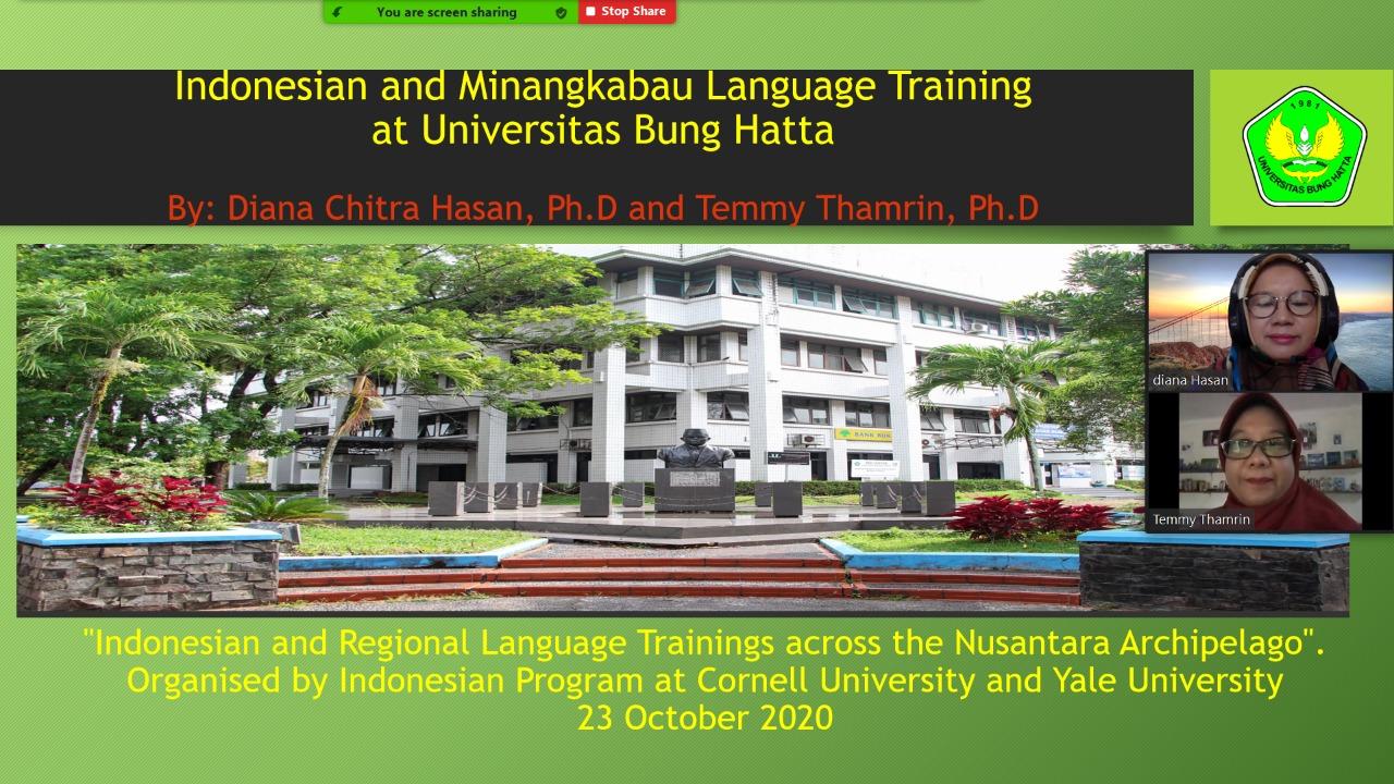 Dua Dosen Program Studi Sastra Inggris Universitas Bung Hatta Diundang oleh Cornell dan Yale University, Amerika Serikat
