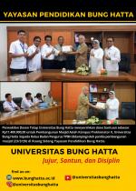Perwakilan Dosen Tetap Universitas Bung Hatta Serahkan Dana Bantuan Pembangunan Masjid Asiah Kampus Proklamator II