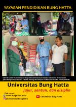 Darurat COVID-19, Universitas Bung Hatta Beri Bantuan kepada Mahasiswa