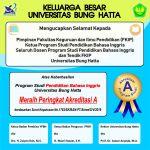 Prodi Pendidikan Bahasa Inggris (PING) FKIP Universitas Bung Hatta Raih Akredita ...
