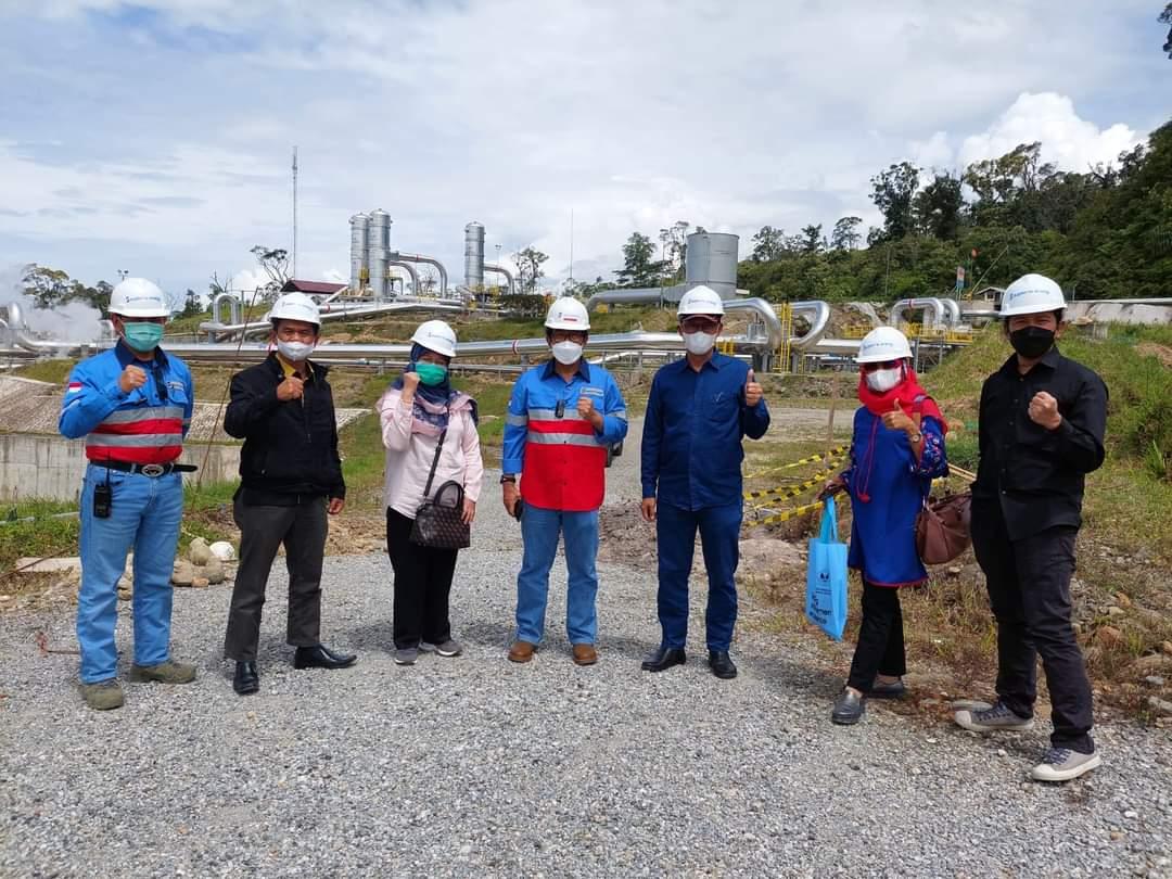 Rektor Universitas Bung Hatta Kunker ke PT Suprime Energy, Pembangkit  Listrik Tenaga Geothermal Solok Selatan