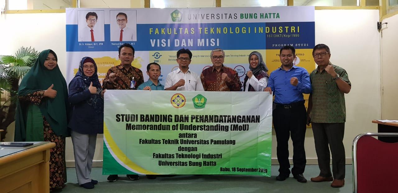 Fakultas Teknik Univ. Pamulang Serpong Studi Banding ke FTI UBH