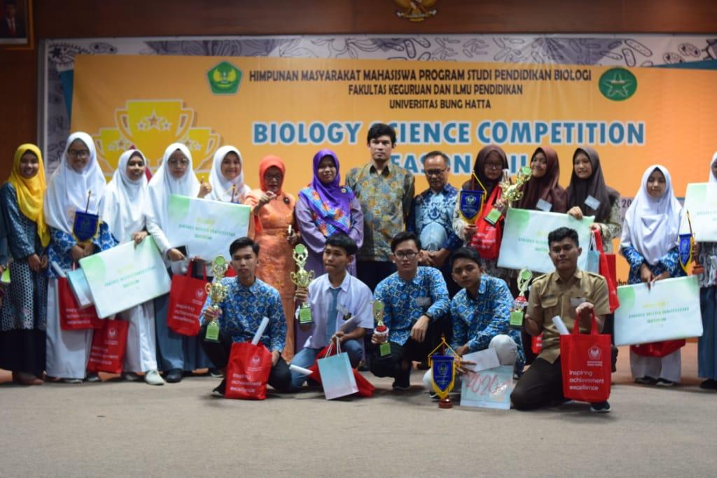 Prodi Biologi Selenggarakan Biology  Science Competition Tingkat SMA/MA se-Sumatera Barat