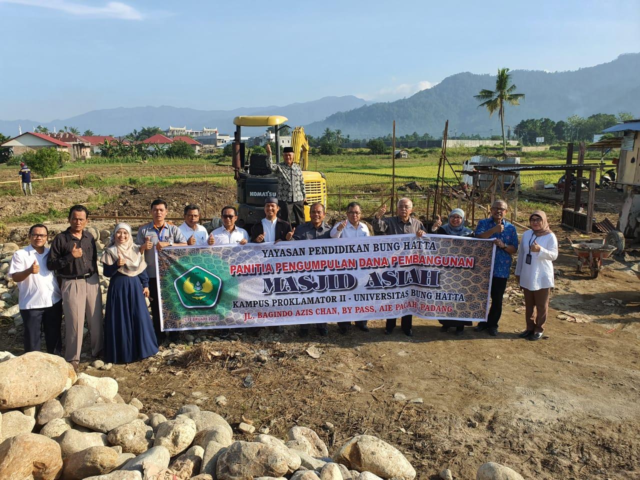 Kondisi Kemajuan Pembangunan Masjid Asiah Kampus II Universitas Bung Hatta