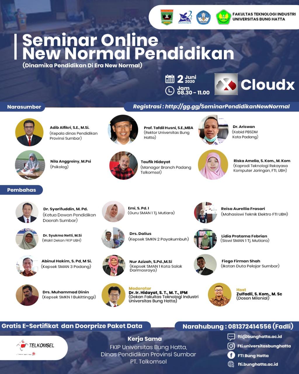 FTI Menggelar Seminar Online New Normal Pendidikan I