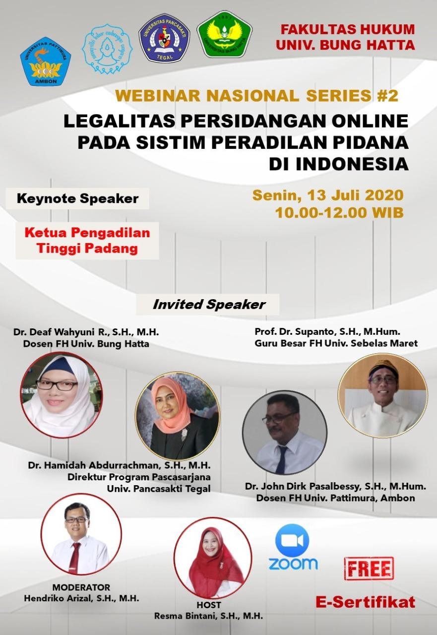 Webinar Fakultas Hukum Series #2