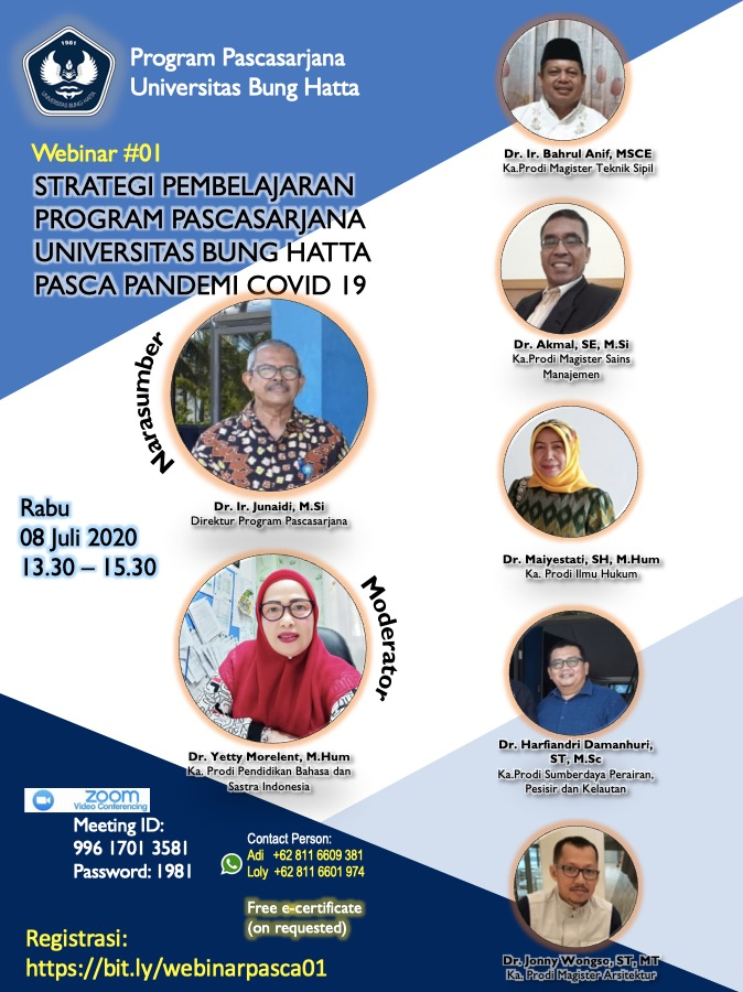 Webinar Program Pascasarjana Universitas Bung Hatta