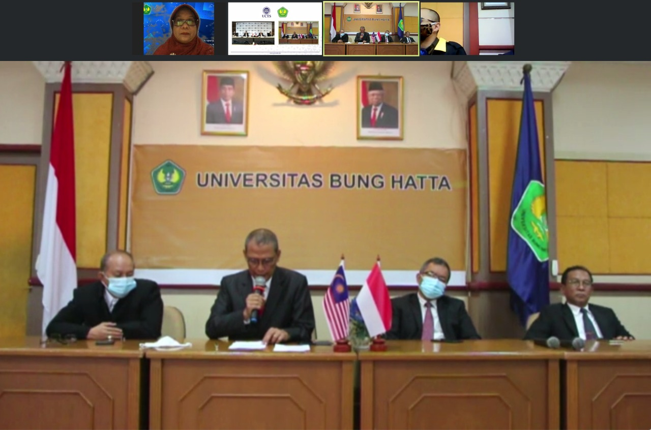 Penandatanganan MoU Universitas Bung Hatta dengan University College of Technology Sarawak (UCTS)