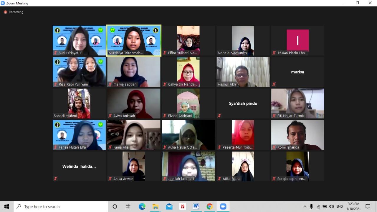 """HMMPS Pendidikan Bahasa dan Sastra Indonesia, FKIP Universitas Bung Hatta Sukses Selenggarakan Webinar """"Pemanfaatan Teknologi untuk Pendidikan, Seni, dan Kewirausahaan"""""""