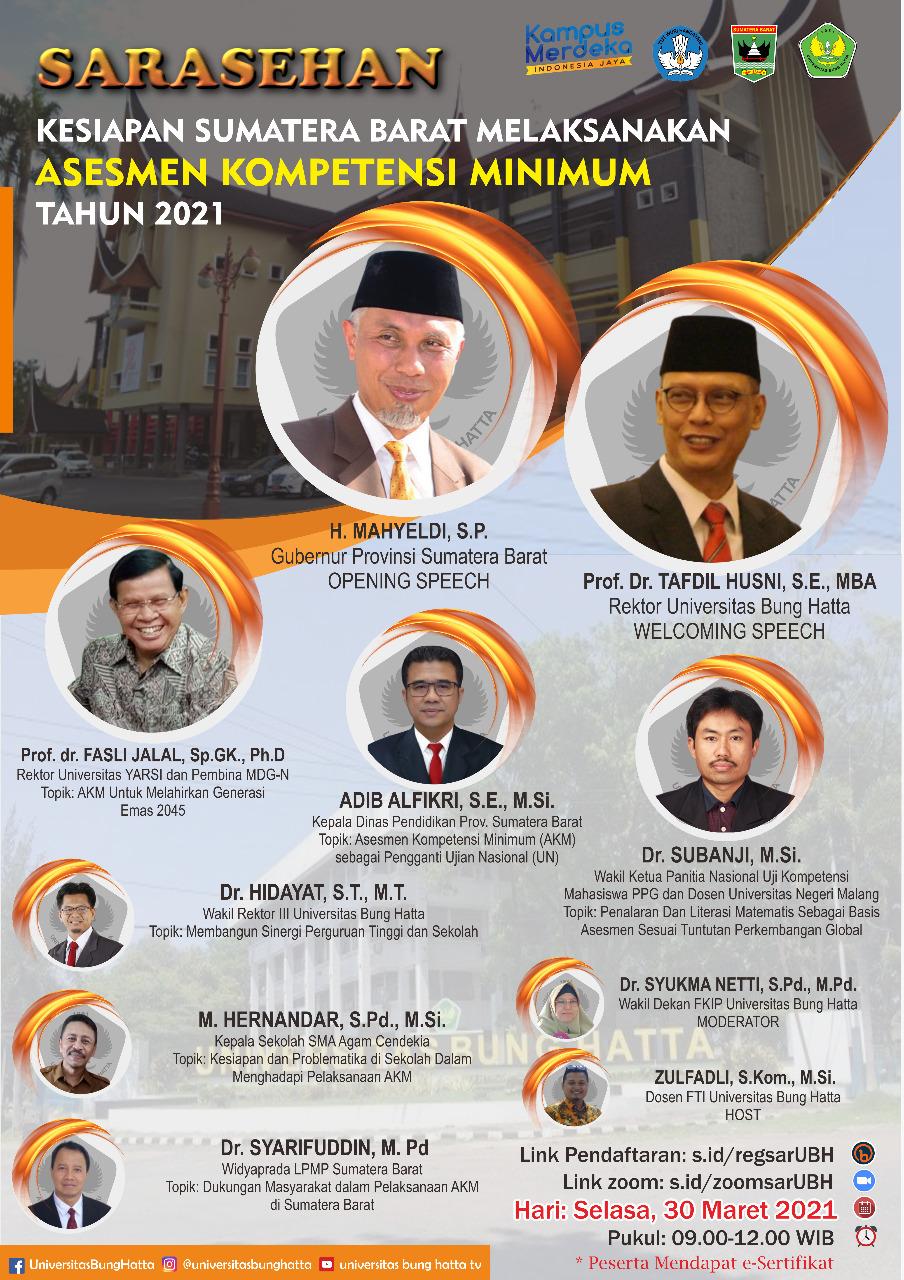 Webinar Kesiapan Sumatera Barat Melaksanakan Asesmen Kompetensi Minimum Tahun 2021