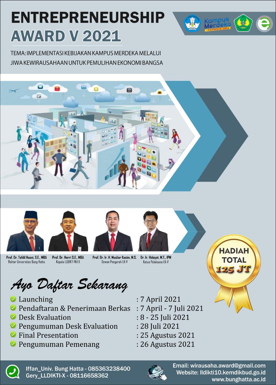Universitas Bung Hatta Menjadi Tuan Rumah Entreprenership Award V 2021