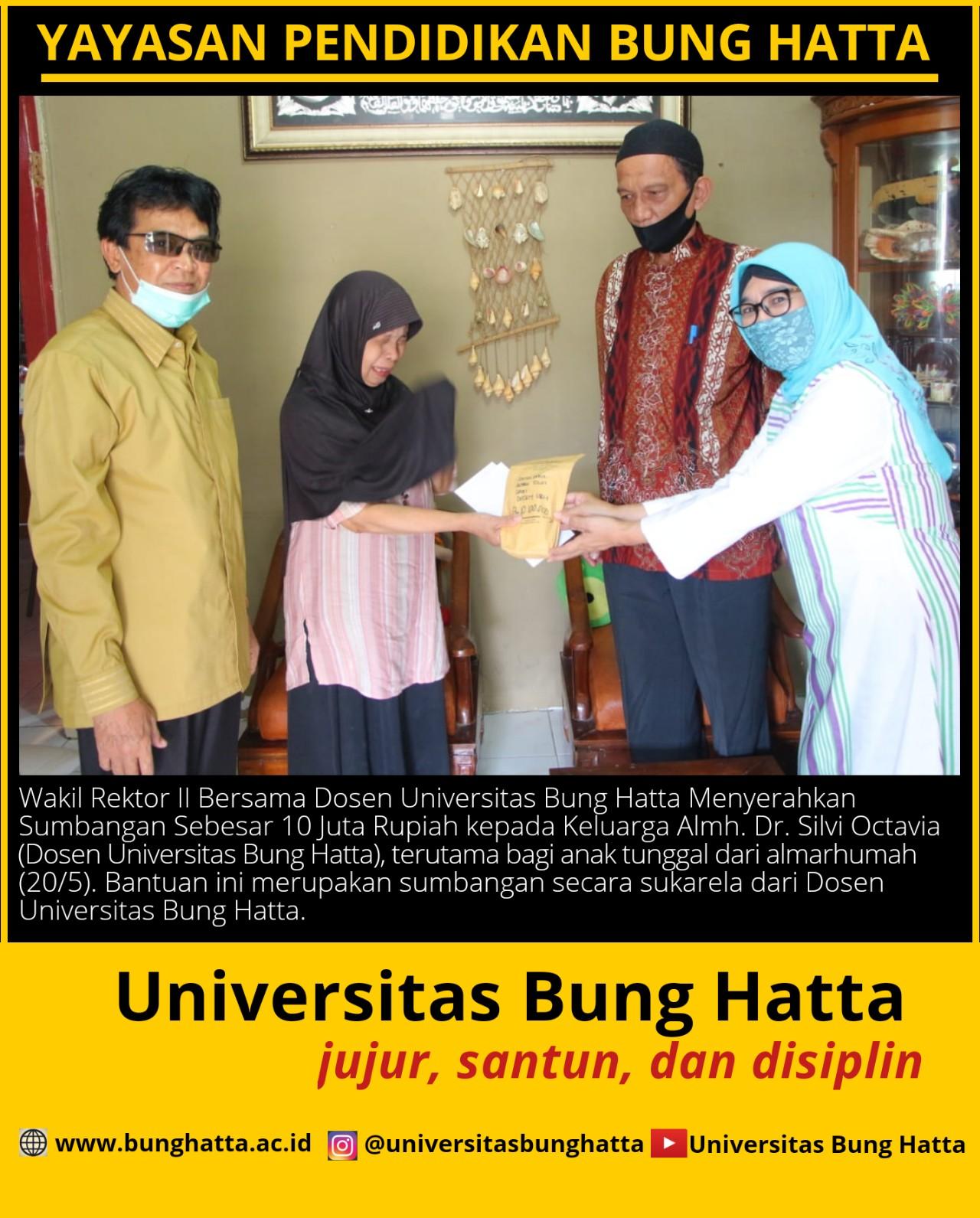 Dosen Universitas Bung Hatta Kunjungi Kediaman Almh. Dr. Silvi Octavia