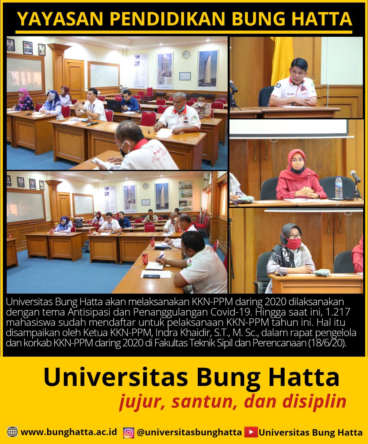 Rapat Persiapan Pelaksanaan Kkn Ppm Daring 2020 Universitas Bung Hatta Universitas Bung Hatta