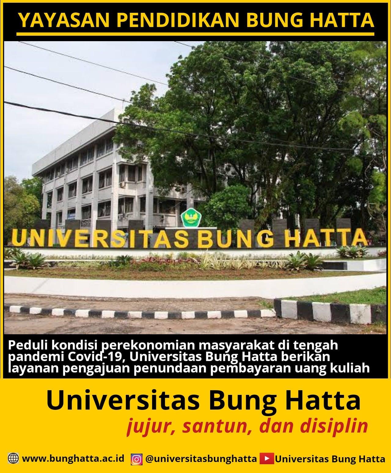 Universitas Bung Hatta Beri Kesempatan bagi Mahasiswa untuk Pengajuan Penundaan Pembayaran SPP