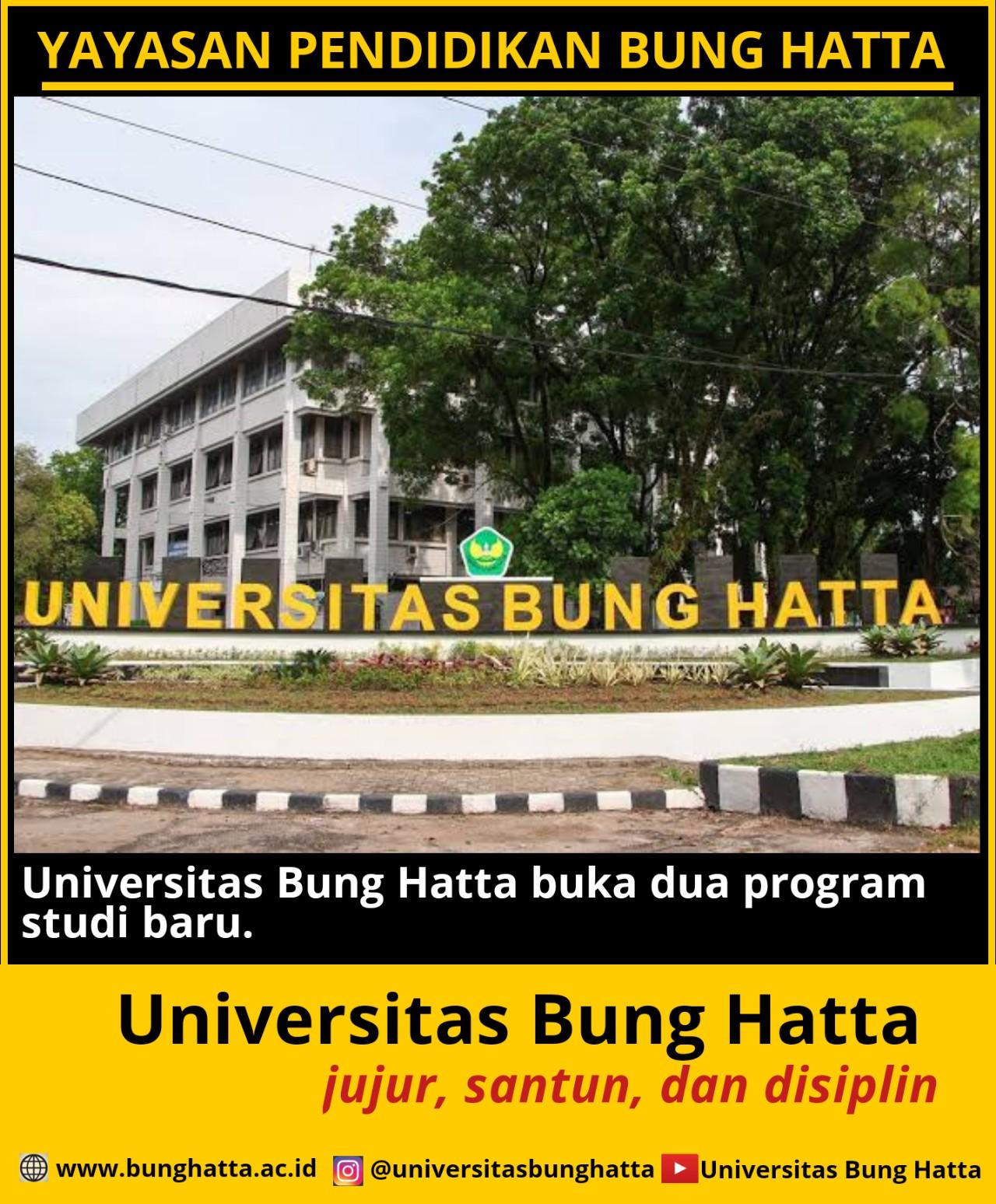 Universitas Bung Hatta Buka Dua Program Studi Baru
