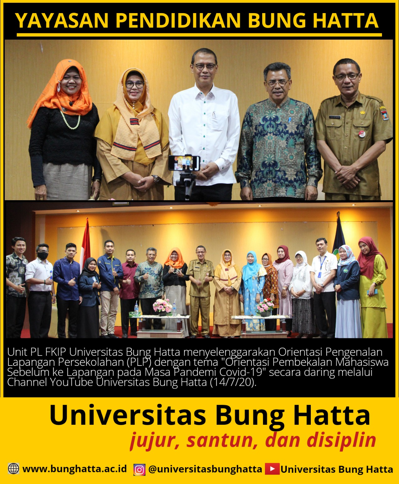 Unit PL FKIP Universitas Bung Hatta Menyelenggarakan Orientasi Pengenalan Lapangan Persekolahan (PLP)