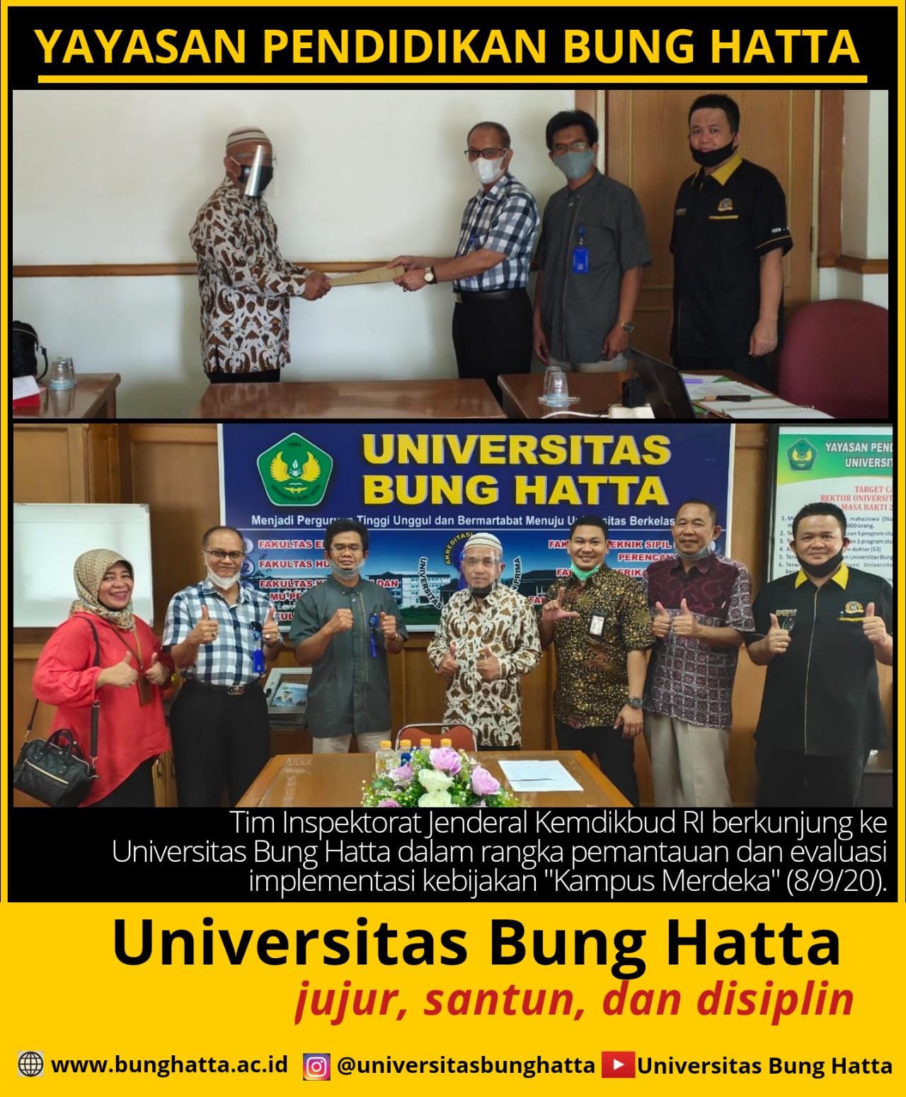 Tim Inspektorat Jenderal Kemdikbud RI Kunjungi Universitas Bung Hatta