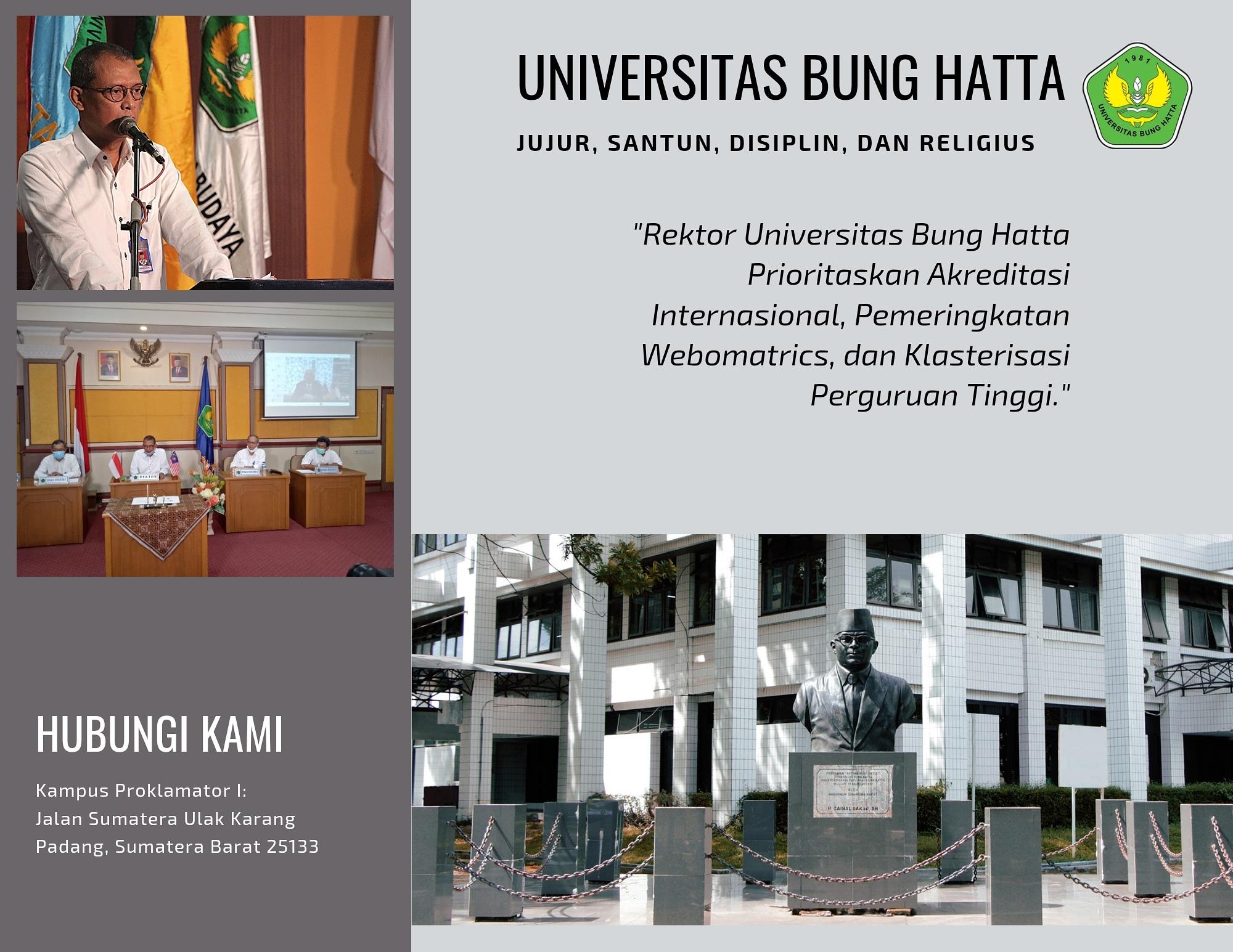 Rektor Universitas Bung Hatta Targetkan Akreditasi Internasional, Pemeringkatan Webomatrics, dan Klasterisasi Perguruan Tinggi