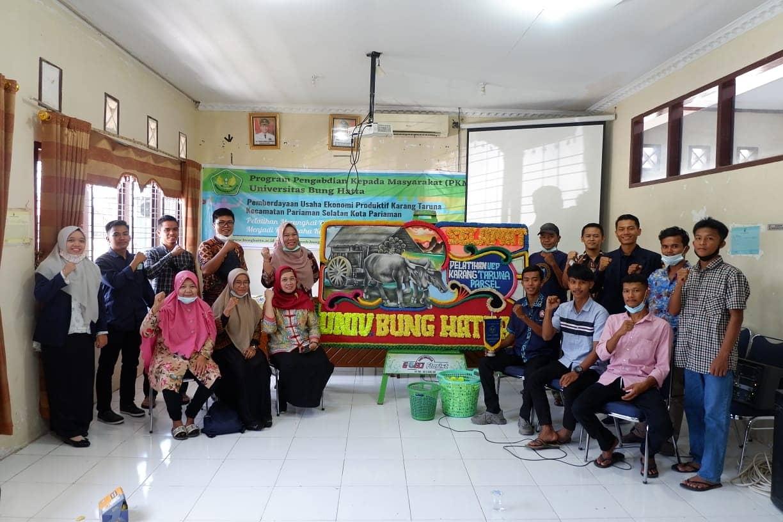 Dosen dan Mahasiswa FEB Universitas Bung Hatta PKM Kolaborasi ke Pariaman Selatan