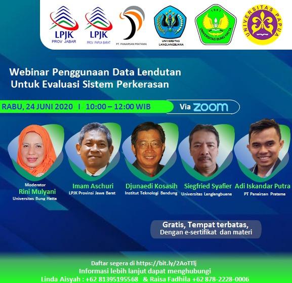 Perkuat Jaringan: Program Studi Teknik Sipil, FTSP Universitas Bung Hatta Turut Andil Sukseskan Webinar