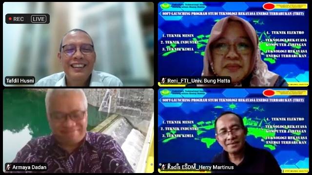 FTI Universitas Bung Hatta Launching Prodi Teknologi Rekayasa Energi Terbarukan