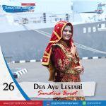 Dea Ayu Lestari, mahasiswa Prodi Akuntansi Fakultas Ekonomi Universitas Bung Hatta terpilih sebagai Puteri Maritim Indonesia Favorit 2018