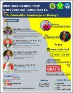 FKIP Universitas Bung Hatta Menggelar Webinar Problematika Pembelajaran Daring