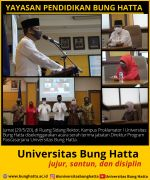 Serah Terima Jabatan Direktur Program Pascasarjana Universitas Bung Hatta