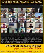 Universitas Bung Hatta Sukses Selenggarakan Seminar Internasional Secara Virtual