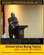 Rektor Universitas Bung Hatta Apresiasi kepada Fakultas yang Berhasil Memenangkan Hibah 'Merdeka Belajar: Kampus Merdeka' dari Kemdikbud RI