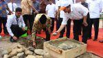 Peletakan Batu Pertama Masjid Banoeidah Universitas Bung Hatta di Kampus Proklamator II