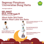 Segenap Jajaran Pimpinan Universitas Bung Hatta Mengucapkan Selamat Hari Raya Idul Fitri 1441 H